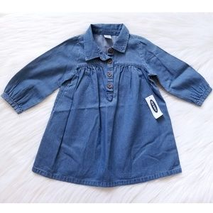 NWT Old Navy Chambray Dress Size 12-18 Months